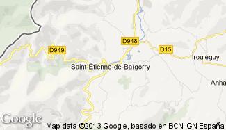 Plan de Saint-Étienne-de-Baïgorry