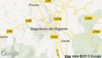 Plan de Bagnères-de-Bigorre