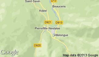 Plan de Pierrefitte-Nestalas