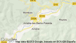 Plan de Amélie-les-Bains-Palalda