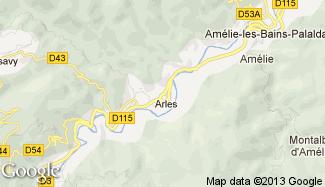 Plan de Arles-sur-Tech