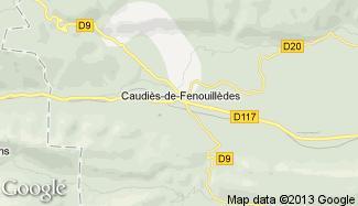 Plan de Caudiès-de-Fenouillèdes