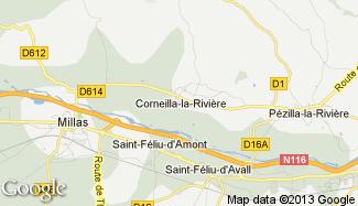 Plan de Corneilla-la-Rivière
