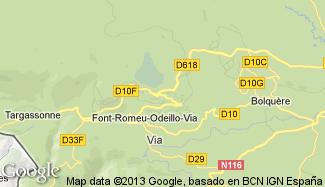 Plan de Font-Romeu-Odeillo-Via