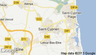 Plan de Saint-Cyprien
