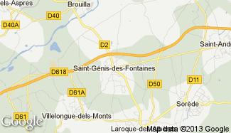 Plan de Saint-Génis-des-Fontaines