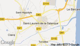 Plan de Saint-Laurent-de-la-Salanque