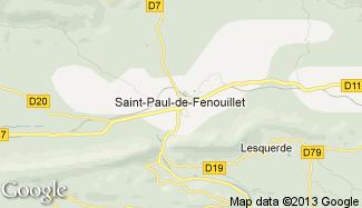 Plan de Saint-Paul-de-Fenouillet