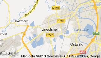 Plan de Lingolsheim