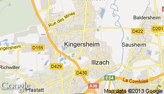 Plan de Kingersheim
