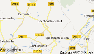 Plan de Spechbach-le-Haut