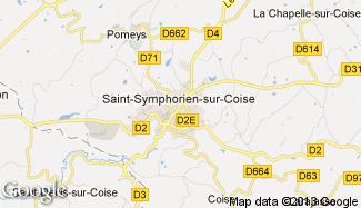 Plan de Saint-Symphorien-sur-Coise
