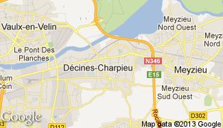 Plan de Décines-Charpieu