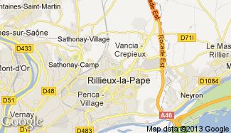Plan de Rillieux-la-Pape
