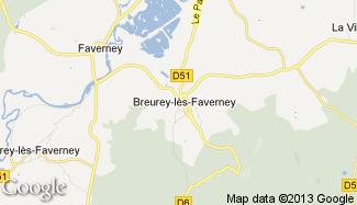 Plan de Breurey-lès-Faverney