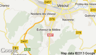 Plan de Échenoz-la-Méline