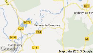 Plan de Fleurey-lès-Faverney