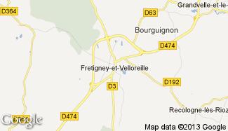 Plan de Fretigney-et-Velloreille