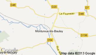 Plan de Montureux-lès-Baulay