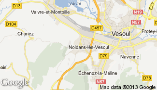 Plan de Noidans-lès-Vesoul
