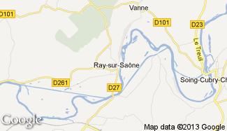 Plan de Ray-sur-Saône