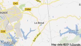 Plan de Le Breuil