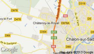 Plan de Châtenoy-le-Royal