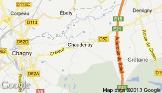 Plan de Chaudenay