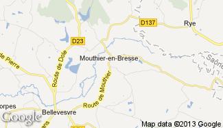 Plan de Mouthier-en-Bresse