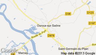 Plan de Ouroux-sur-Saône