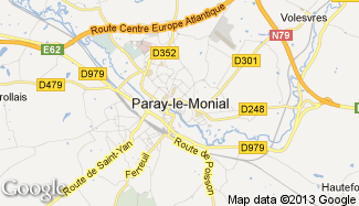 Plan de Paray-le-Monial