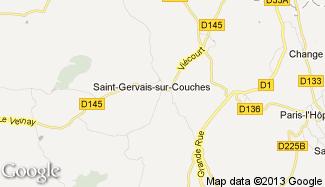 Plan de Saint-Gervais-sur-Couches