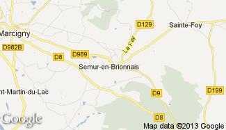 Plan de Semur-en-Brionnais