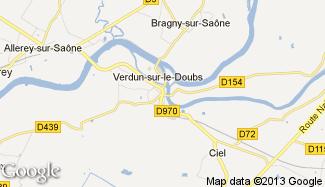 Plan de Verdun-sur-le-Doubs