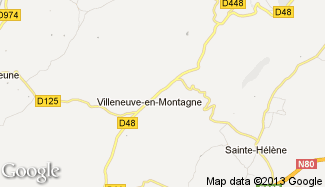 Plan de Villeneuve-en-Montagne