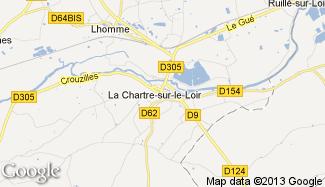 Plan de La Chartre-sur-le-Loir