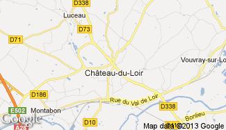 Plan de Château-du-Loir