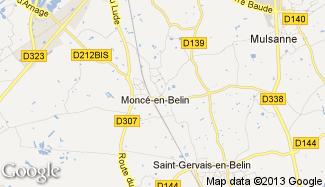 Plan de Moncé-en-Belin