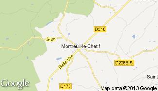 Plan de Montreuil-le-Chétif