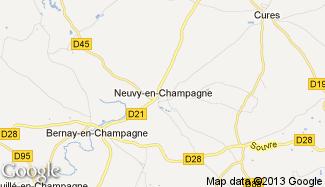 Plan de Neuvy-en-Champagne