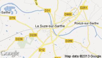 Plan de La Suze-sur-Sarthe