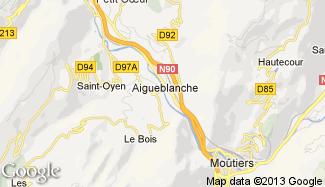 Plan de Aigueblanche