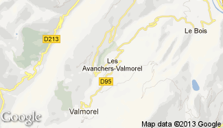 Plan de Les Avanchers-Valmorel