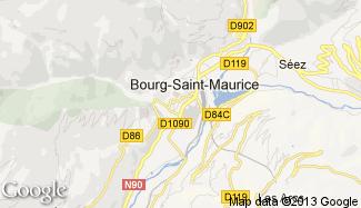 Plan de Bourg-Saint-Maurice