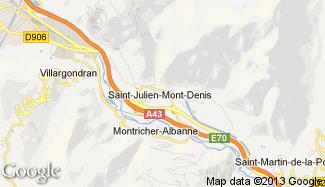 Plan de Saint-Julien-Mont-Denis