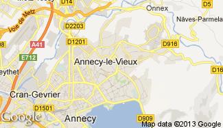 Plan de Annecy-le-Vieux