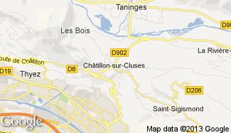 Plan de Châtillon-sur-Cluses