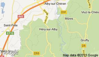 Plan de Héry-sur-Alby