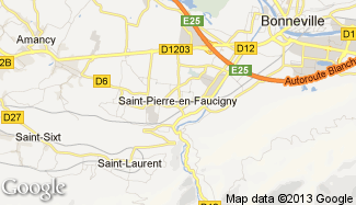 Plan de Saint-Pierre-en-Faucigny