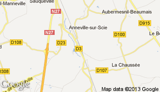 Plan de Anneville-sur-Scie